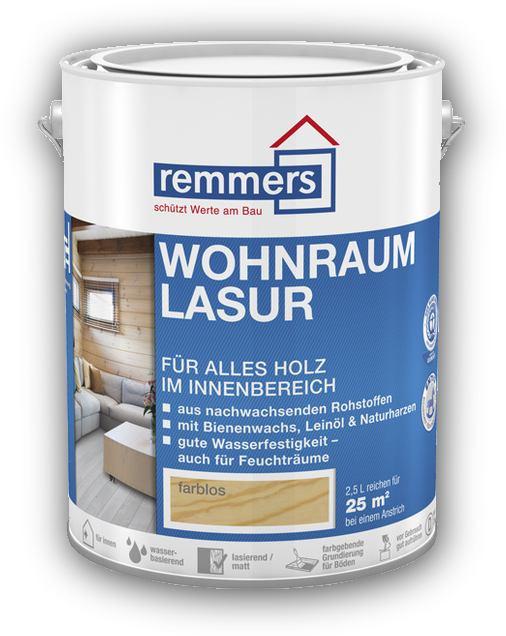 2,5 l Remmers Wohnraum - Lasur, vosková lazura, 8 odstínů