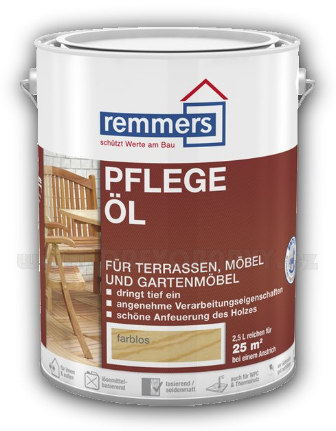 5 l Remmers Pflege Öl - olej, 4 odstíny