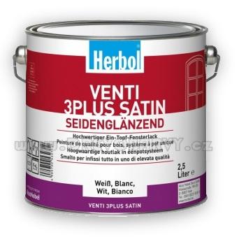 2,5 l Herbol Venti 3 Plus Satin - tónovaný dle RAL (9010, 9016, 1013, 1015)