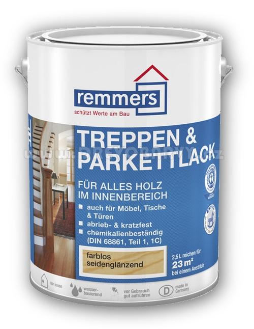 2,5 l Remmers Treppen und Parkettlack - lak na podlahy, korek, nábytek
