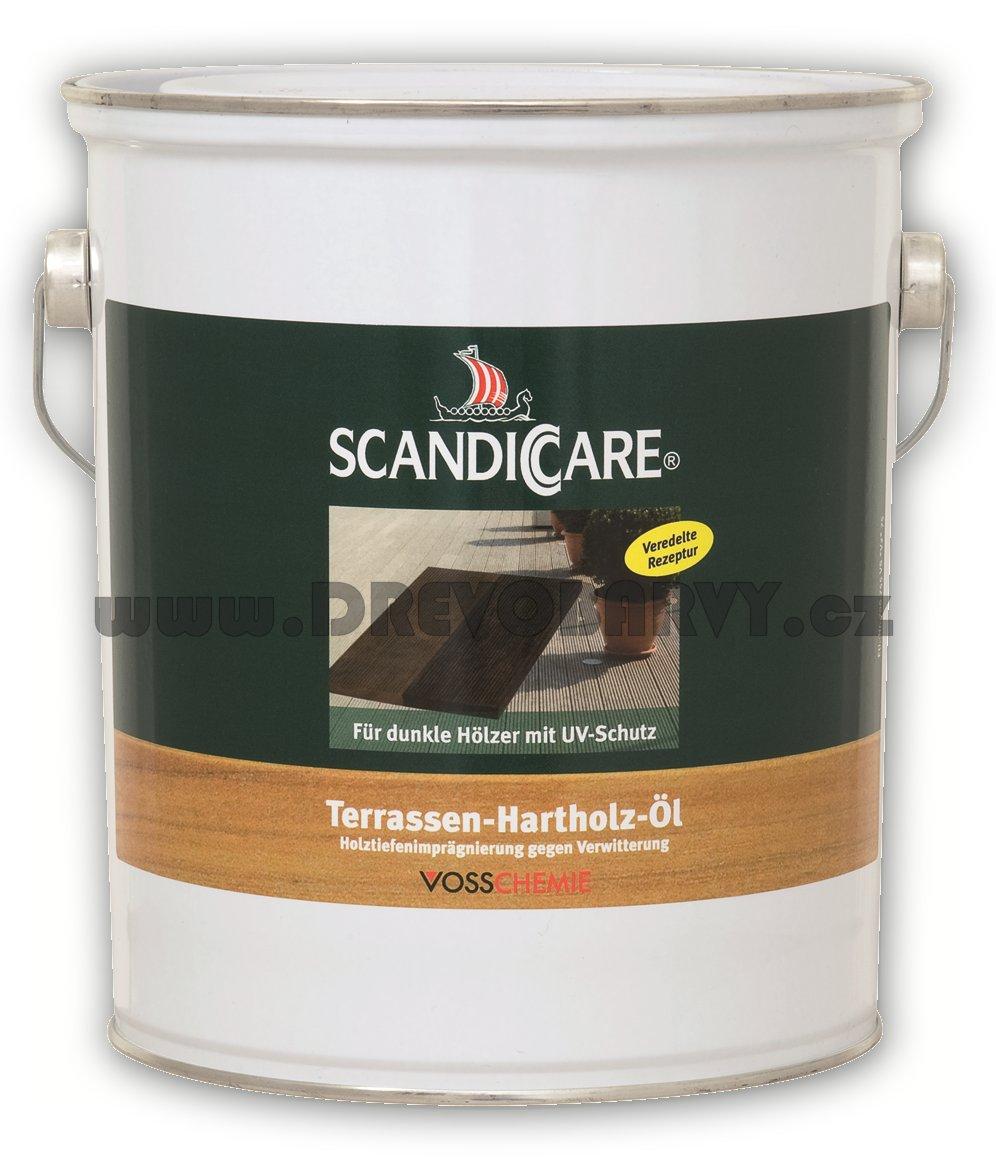 3 l Scandiccare tmavý terasový olej (TERRASSEN-HARTHOLZ-ÖL) - AKCE
